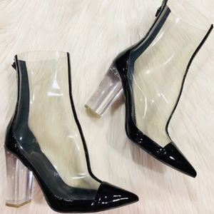 Kendall & Kylie Clear Lucite Haven Booties